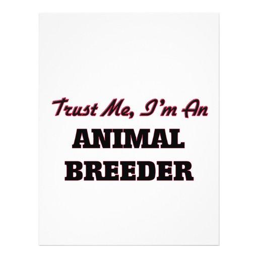 Trust me I'm an Animal Breeder Flyer Design
