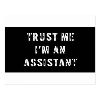 Trust Me I'm An Assistant Postcard