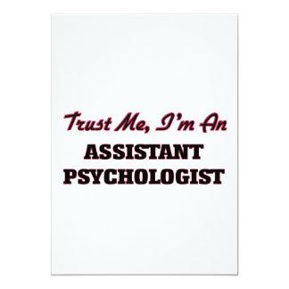 Trust me I'm an Assistant Psychologist 13 Cm X 18 Cm Invitation Card