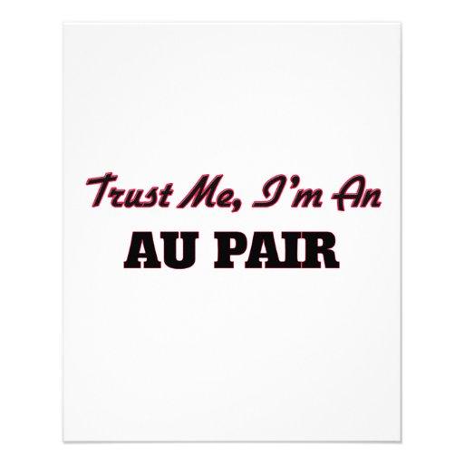 Trust me I'm an Au Pair Full Color Flyer