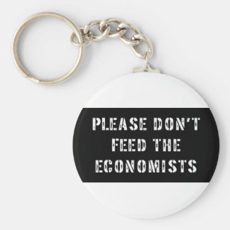 Trust Me I'm an Economist Basic Round Button Key Ring