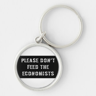 Trust Me I'm an Economist Silver-Colored Round Key Ring