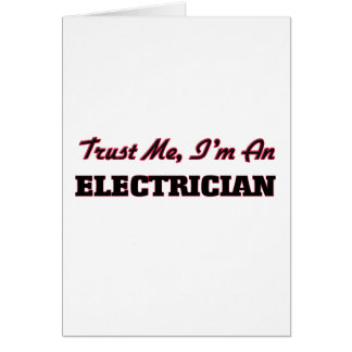 Trust me I'm an Electrician Card