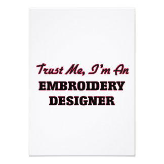 Trust me I'm an Embroidery Designer Card