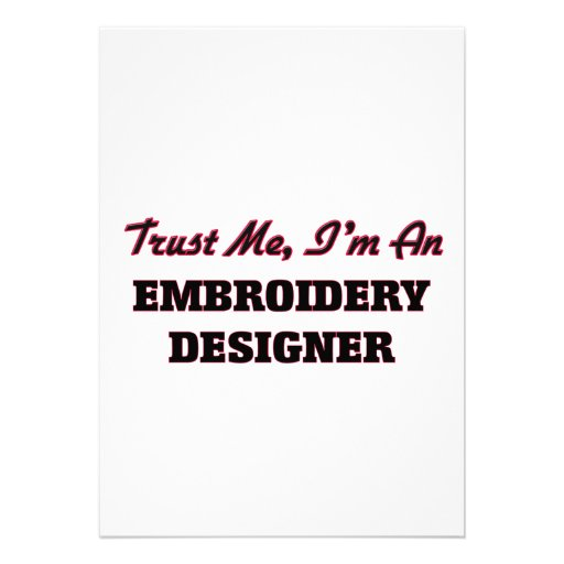 Trust me I'm an Embroidery Designer Cards