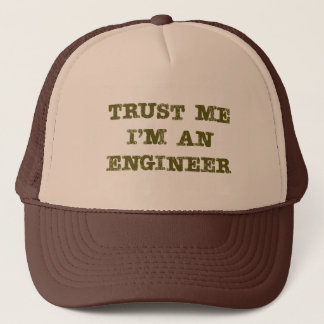 Trust Me I'm an Engineer (brown) Trucker Hat