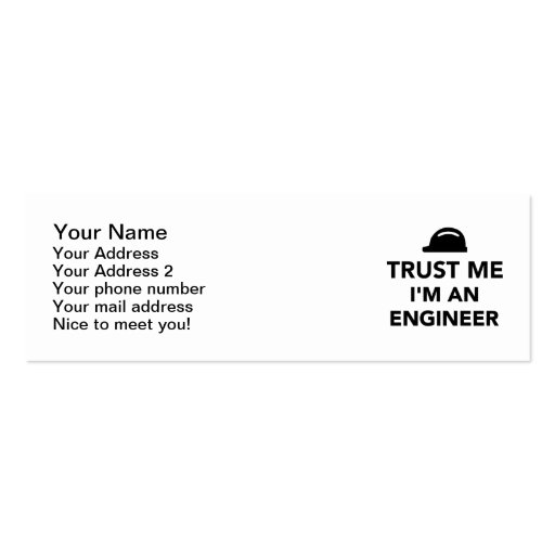 Trust me I'm an Engineer Business Cards