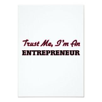 Trust me I'm an Entrepreneur 13 Cm X 18 Cm Invitation Card