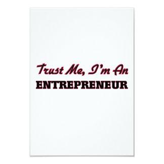 Trust me I'm an Entrepreneur 9 Cm X 13 Cm Invitation Card