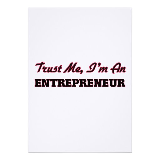 Trust me I'm an Entrepreneur Personalized Invitation