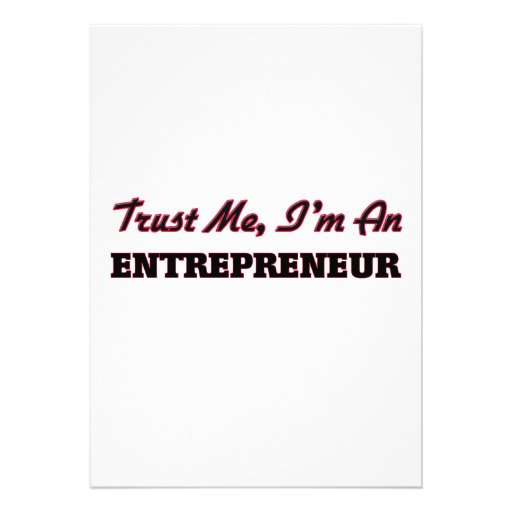 Trust me I'm an Entrepreneur Personalized Invites