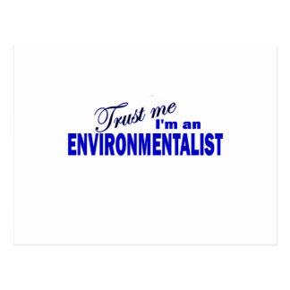Trust Me I'm an Environmentalist Postcard