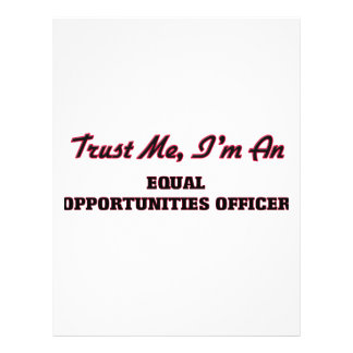 Trust me I'm an Equal Opportunities Officer Personalized Flyer