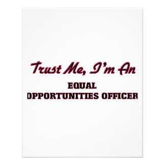 Trust me I'm an Equal Opportunities Officer Flyers