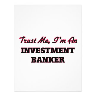 Trust me I'm an Investment Banker 21.5 Cm X 28 Cm Flyer
