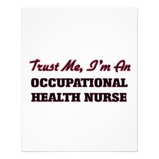 Trust me I'm an Occupational Health Nurse Custom Flyer
