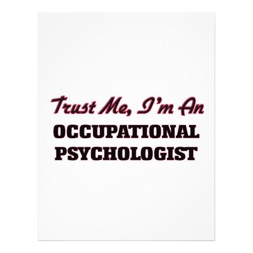 Trust me I'm an Occupational Psychologist Flyer Design