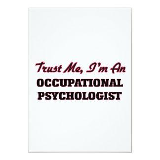Trust me I'm an Occupational Psychologist 13 Cm X 18 Cm Invitation Card