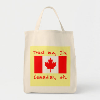 Trust Me I'm Canadian Products Tote Bag