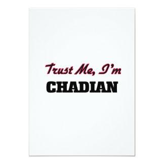 Trust me I'm Chadian 13 Cm X 18 Cm Invitation Card