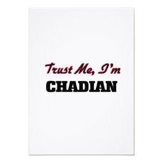 """Trust me I'm Chadian 5"""" X 7"""" Invitation Card"""