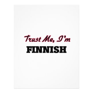 Trust me I'm Finnish Full Color Flyer
