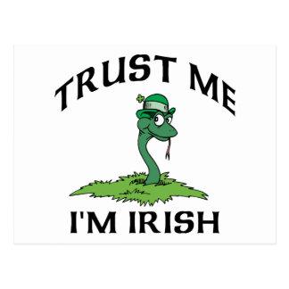 Trust Me I'm Irish Gift Postcard