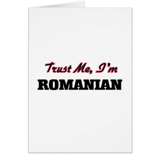 Trust me I'm Romanian Card