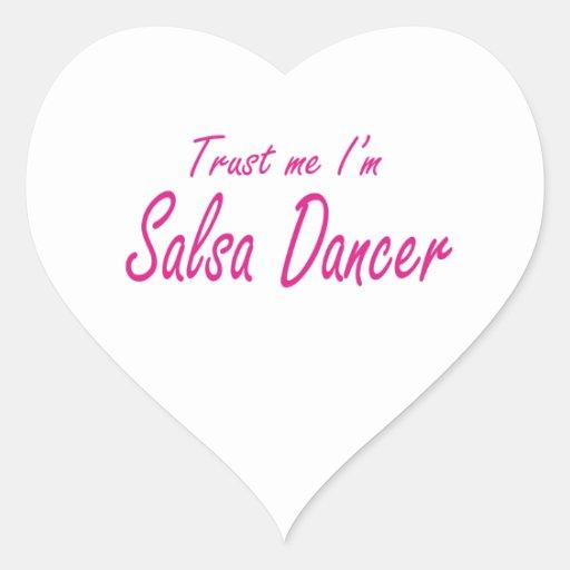 Trust me , I'm Salsa Dancer Heart Stickers