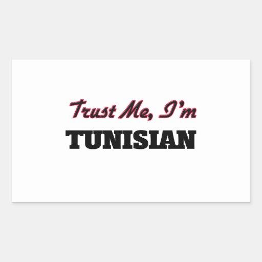 Trust me I'm Tunisian Rectangular Stickers