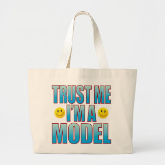 Trust Me Model Life B Large Tote Bag