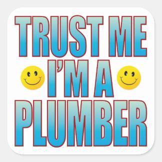 Trust Me Plumber Life B Square Sticker