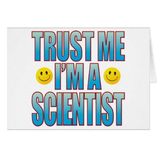 Trust Me Scientist Life B Greeting Card