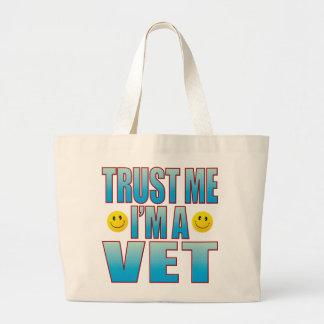 Trust Me Vet Life B Large Tote Bag
