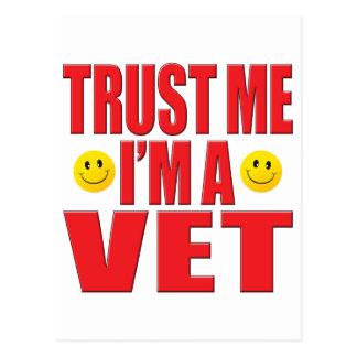 Trust Me Vet Life Postcard