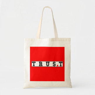 trust text message emotion feeling red dot square budget tote bag