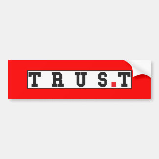 trust text message emotion feeling red dot square bumper sticker