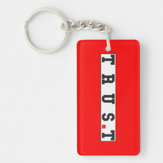 trust text message emotion feeling red dot square key ring