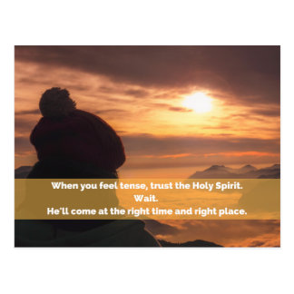 Trust the Holy Spirit Postcard