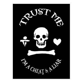 Trust the Pirate Postcard