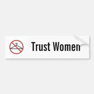 Trust women car sticker