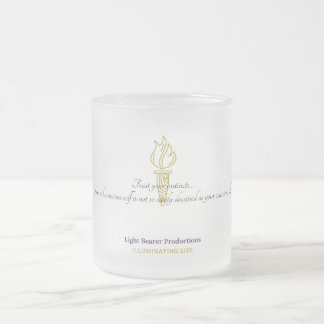 Trust your instincts...Glassware Frosted Glass Coffee Mug