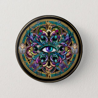Trust Yourself ~ The Eyes of the World Mandala 6 Cm Round Badge