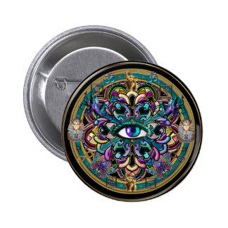 Trust Yourself ~ The Eyes of the World Mandala 6 Cm Round Badge