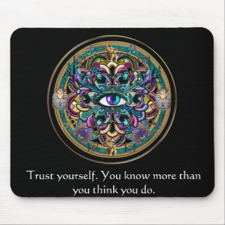 Trust Yourself ~ The Eyes of the World Mandala Mouse Mat
