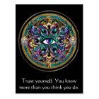 Trust Yourself ~ The Eyes of the World Mandala Postcard