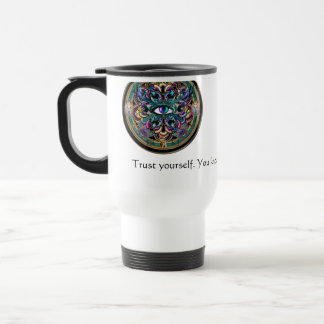 Trust Yourself ~ The Eyes of the World Mandala Travel Mug