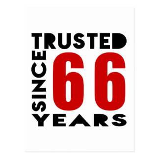 Trusted Since 66Years Postcard
