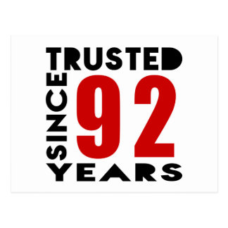 Trusted Since 92 Years Postcard