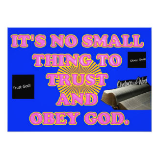 Trusting and obeying God is no small task. Photo Art